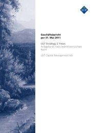 Geschäftsbericht per 31. Mai 2011 LGT Strategy 2 Years - LGT Group