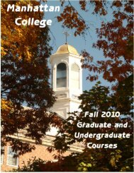Fall 2009 Cover.sig - Web Access for Home - Manhattan College