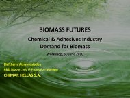 Demand from the chemical industry - Biomass Futures