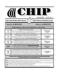 novembre 2005 - Club informatique Mont-Bruno