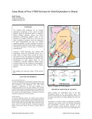 Case Study of Four VTEM Surveys for Gold Exploration in Ghana