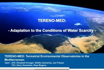 TERENO-MED: Adaption to the Conditions of Water Scarcity