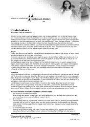 Soc Emo Gedrag en Opvoeding - Kinderlokkers - VGGM