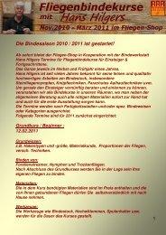 Die Bindesaison 2010 / 2011 ist gestartet! - Der Fliegen-Shop