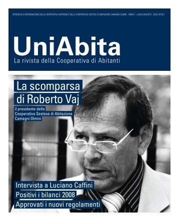 La scomparsa di Roberto Vaj - Uniabita