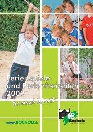 Ferienspiele und Ferienfreizeiten 2009 - Bocholt
