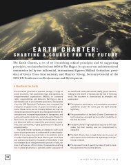 EARTH CHARTER: - World Resources Institute