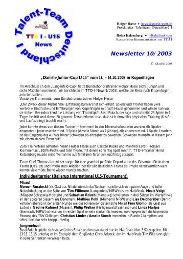 Newsletter 10/ 2003 - (BLV-NRW) www