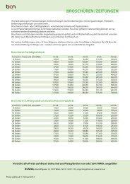 PDF Preisliste Broschüren/Zeitungen - BCN Copyshop Wien