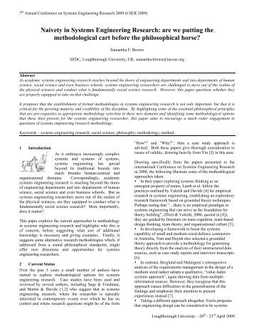Naivety in Systems Engineering Research - ejournal.narotama...