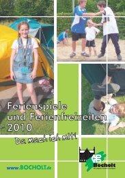 Ferienspiele und Ferienfreizeiten 2010 - Bocholt
