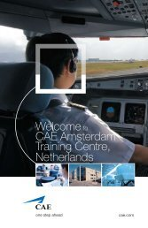 Welcometo CAE Amsterdam Training Centre, Netherlands
