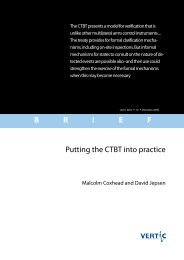B R I E F Putting the CTBT into practice - VERTIC