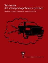 Eficiencia del transporte público y privado