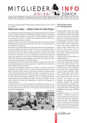 Mitglieder-Info 1/2004 - Aiki-Kai Zürich