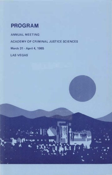 PROGRAM - Academy of Criminal Justice Sciences
