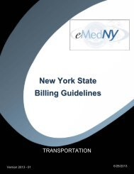 Transportation Billing Guidelines - eMedNY