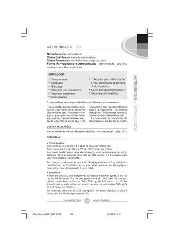 Metronidazol - Farmanguinhos - Fiocruz