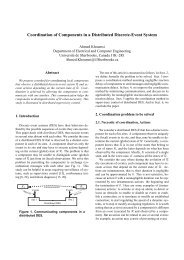 Coordination of Components in a Distributed Discrete-Event System