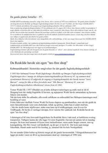 """Da Roskilde havde sin egen """"tax-free shop"""" - roskildefugleskydning.dk"""