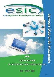 Serveurs W eb et d e M essag erie - Groupe ESIC