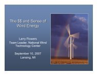 The $$ and Sense of Wind Energy - Noble Environmental Power
