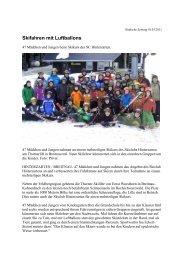 Skifahren mit Luftballons - Skiclub Hinterzarten