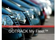 GOTRACK My Fleet™ - GPS Vehicle Tracking System