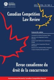 Competition Act - Canadian Bar Association