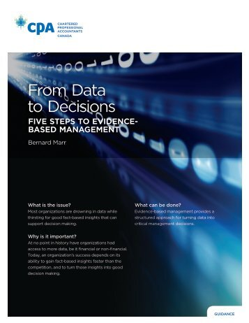 From Data to Decisions - FIVE STEPS TO EVIDENCE BASED MANAGEMENT
