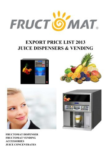 Fructomat export pricelist 2013
