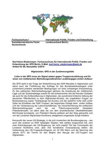 Afghanistan. SPD in der Zustimmungsfalle - Internationale Politik ...