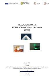 Ricerca applicata in calabria 2008 - Parte_1 - Regione Calabria