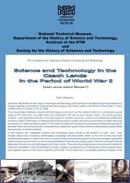 Science and Technology in the Czech Lands in the Period of World ...
