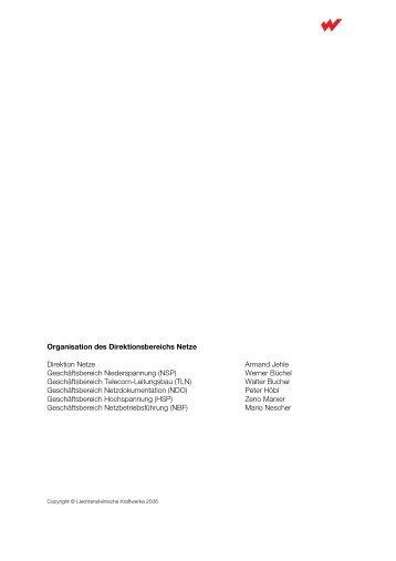 Organisation des Direktionsbereichs Netze Direktion Netze Armand ...