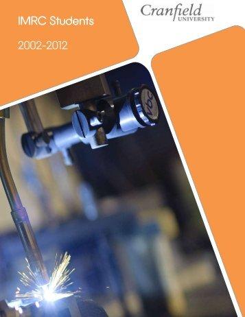 IMRC Students 2002-2012 - Cranfield University