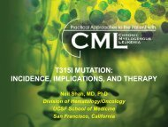 T315I Mutation: Incidence, Implications, and Therapy - Educational ...