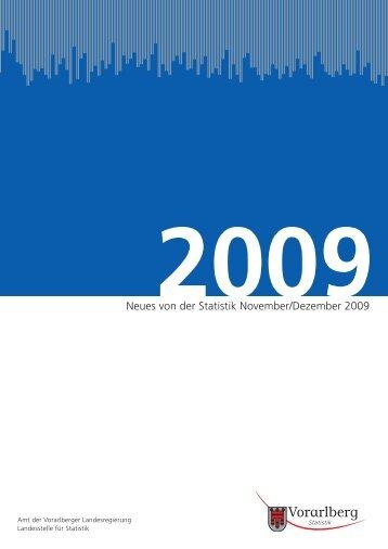 Neues von der Statistik November/Dezember 2009