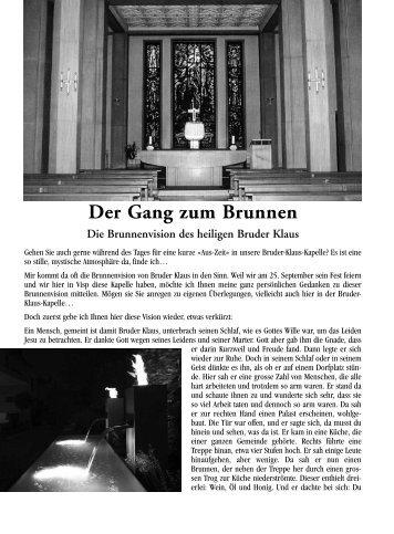 Der Gang zum Brunnen - Pfarrei Visp