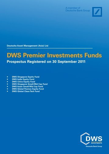 DWS Premier Investments Funds Prospectus Registered on 30 ...