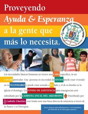 Proveyendo Ayuda & Esperanza a la gente que ... - Catholic Charities