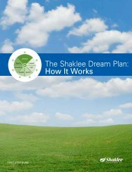 The Shaklee Dream Plan: How It Works