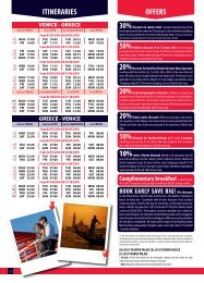 ITINERARIES OFFERS - Minoan Lines