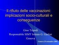 Il rifiuto delle vaccinazioni - Associazione Pediatri Extraospedalieri ...