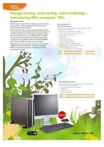 Introducing RM's ecoquiet® PCs - Tesco