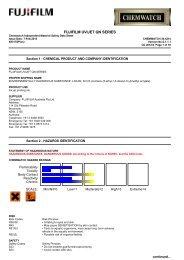 Chemwatch Australian MSDS 34-4214 - FUJIFILM Australia