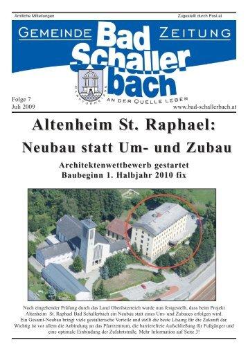 Altenheim St. Raphael: - Gemeinde Bad Schallerbach