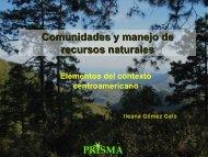 Comunidades y manejo de recursos naturales