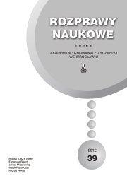Rozprawy Naukowe 39 - Akademia Wychowania Fizycznego we ...