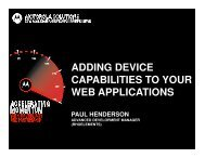 adding device capabilities to your web applications - Motorola ...